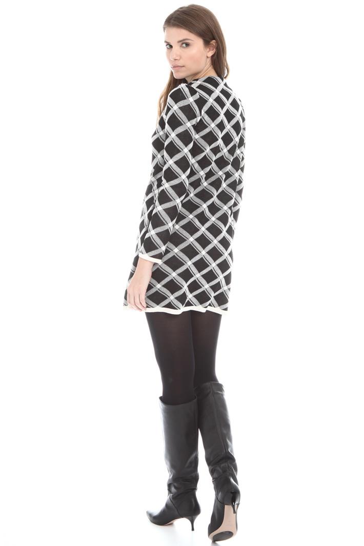 Mini abito in maglia jacquard Intrend