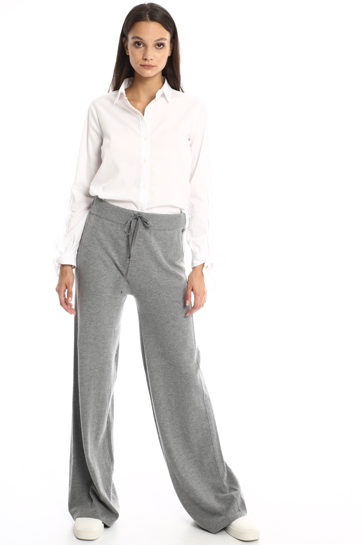 Knit trousers with drawstring Intrend