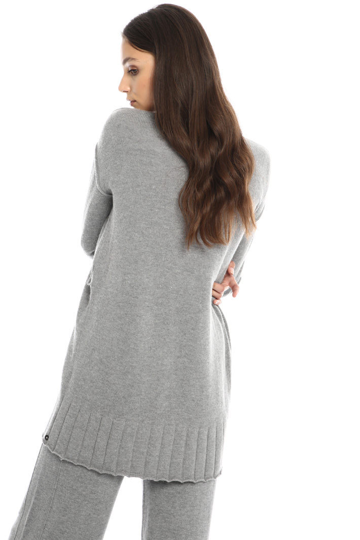 Cardigan with ribbed details Intrend