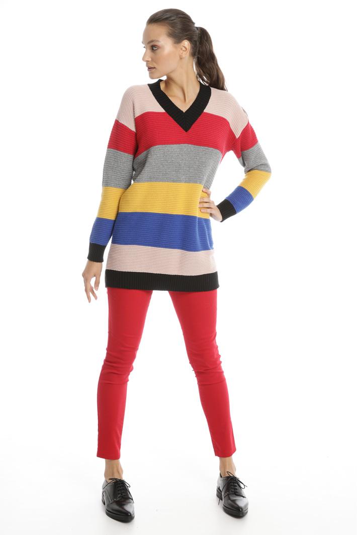 Multicolour striped sweater Intrend