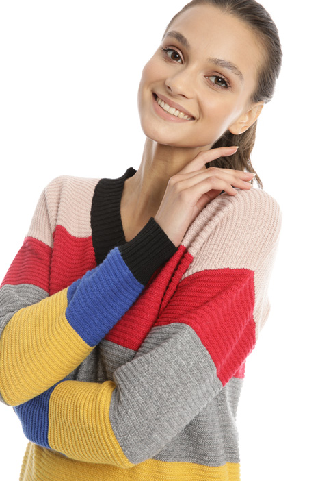 Multicolour striped sweater Intrend