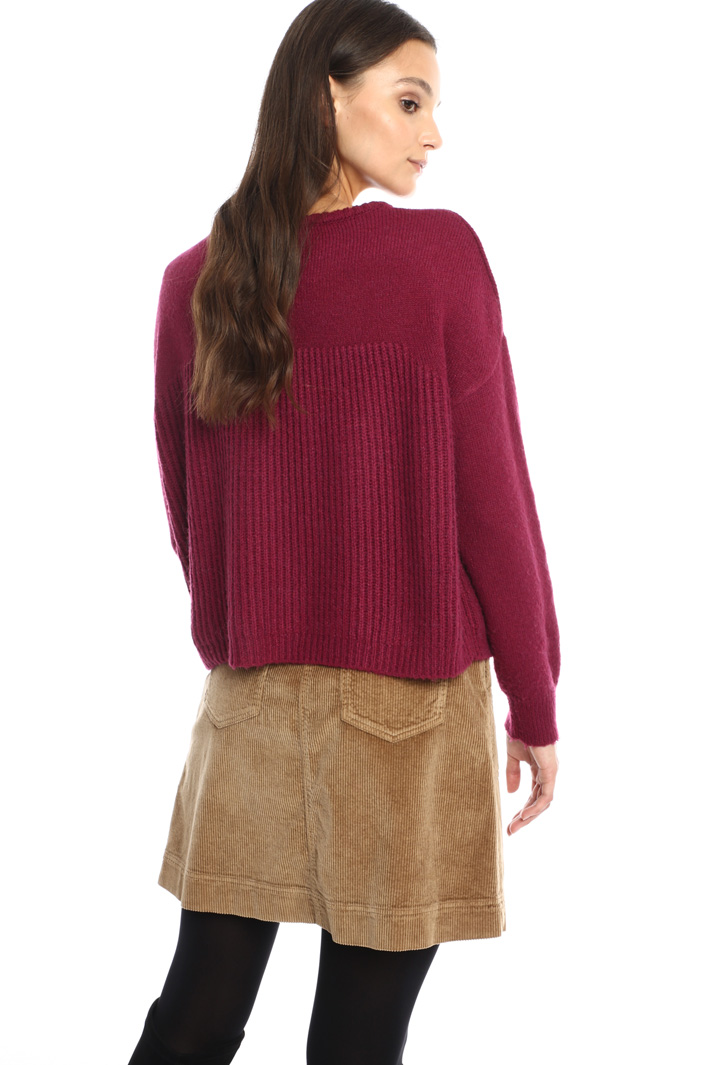 Rib knit sweater Intrend