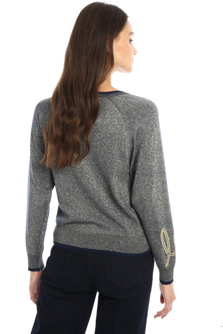 Embroidered lamé sweater Intrend