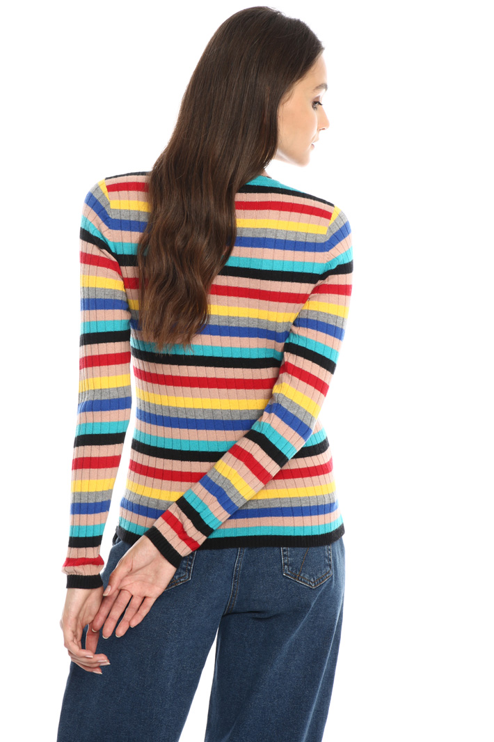 Striped multicolour turtleneck Intrend