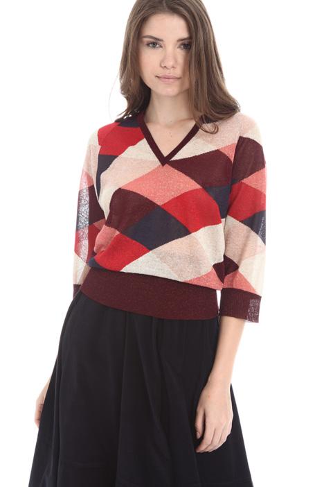Multicoloured viscose sweater Intrend