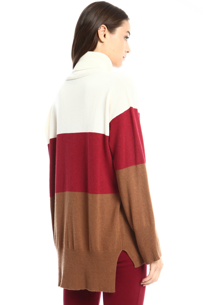 Wool blend high neck sweater Intrend