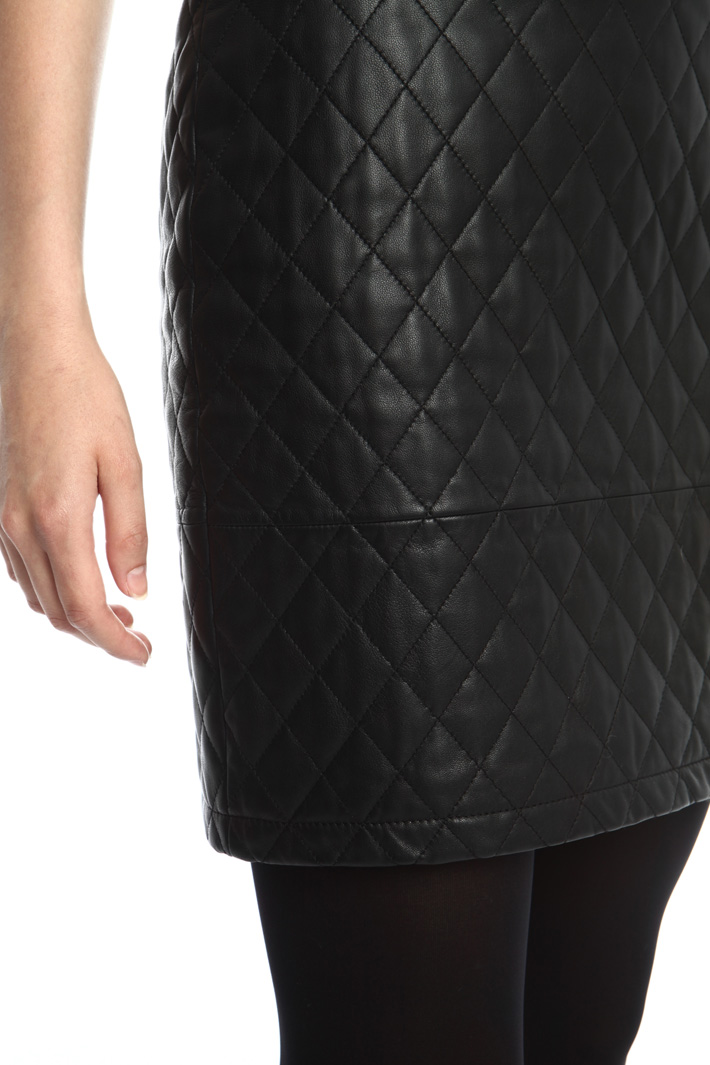 Quilted nappa skirt Intrend