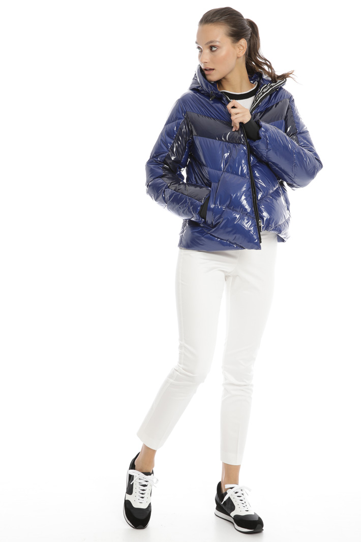 Glossy finish puffer jacket Intrend
