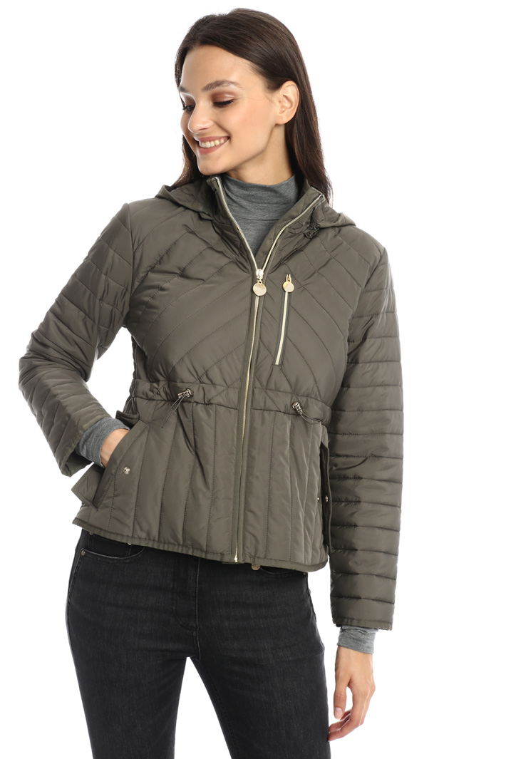 Drawstring waist padded jacket Intrend