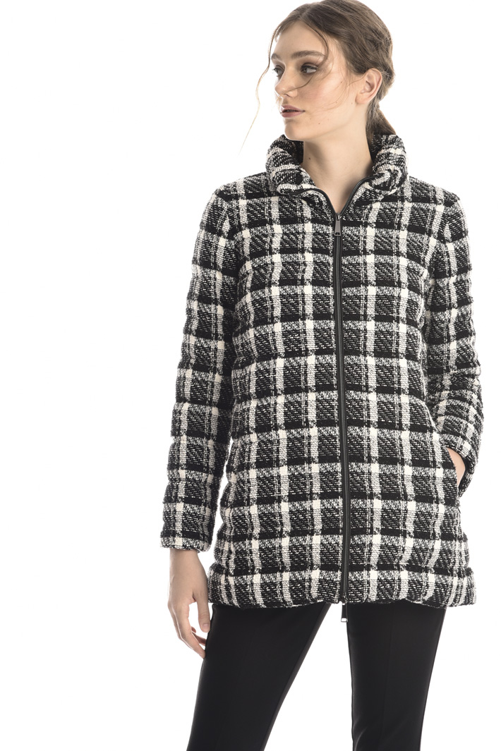 Cotton tweed down coat Intrend