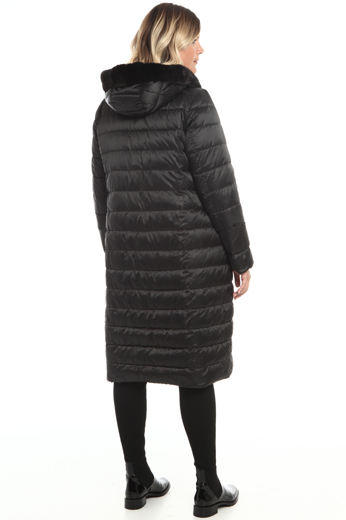 Down coat with fur trim Intrend