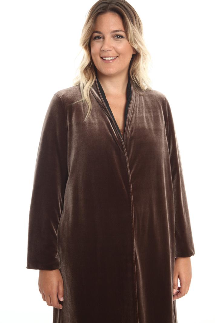 Velvet jersey coat Intrend