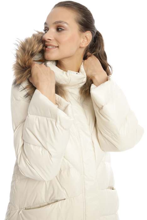 Fur trim down jacket Intrend