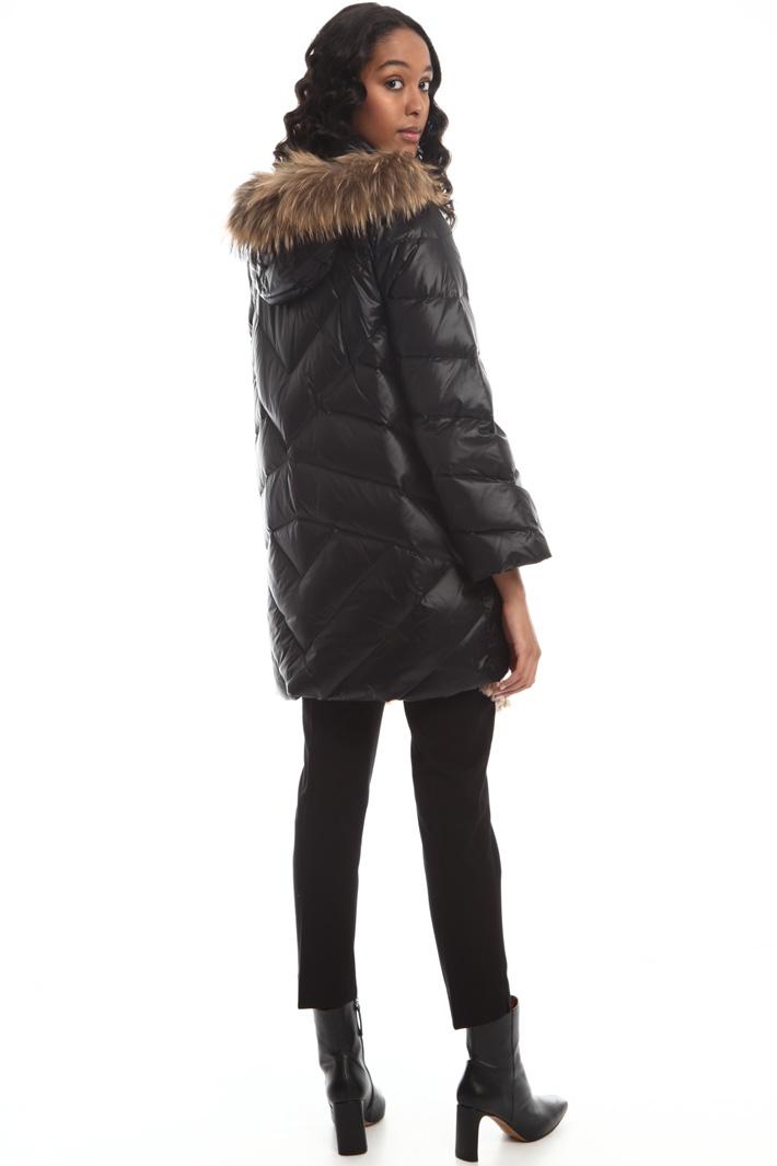 Fur trim down jacket Intrend