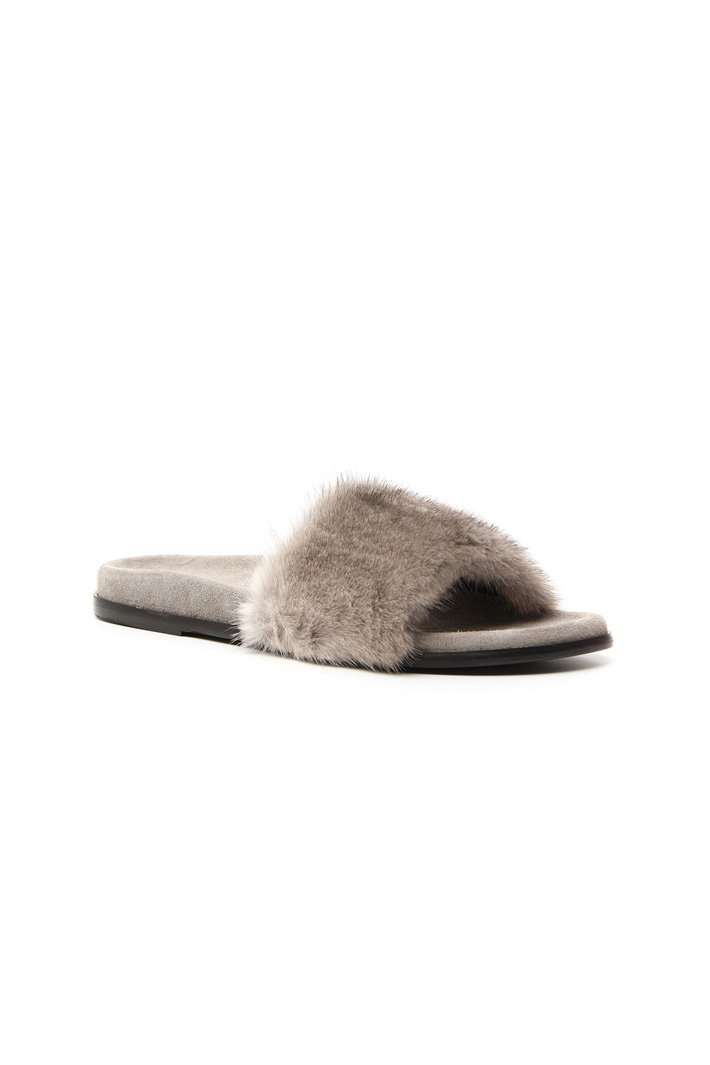 Mink slippers Intrend