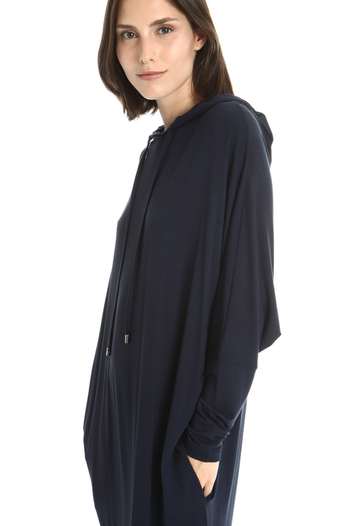 Hooded jersey dress Intrend
