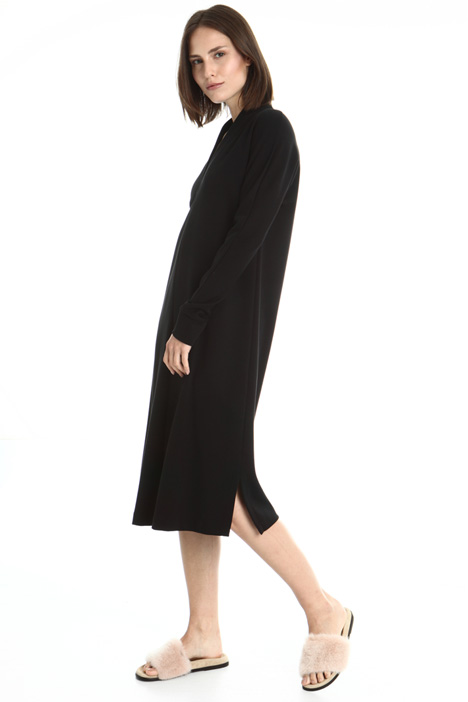 Jersey dress with side slits Intrend