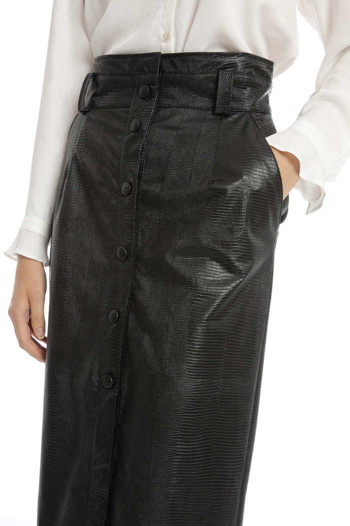 Faux-leather pencil skirt Intrend