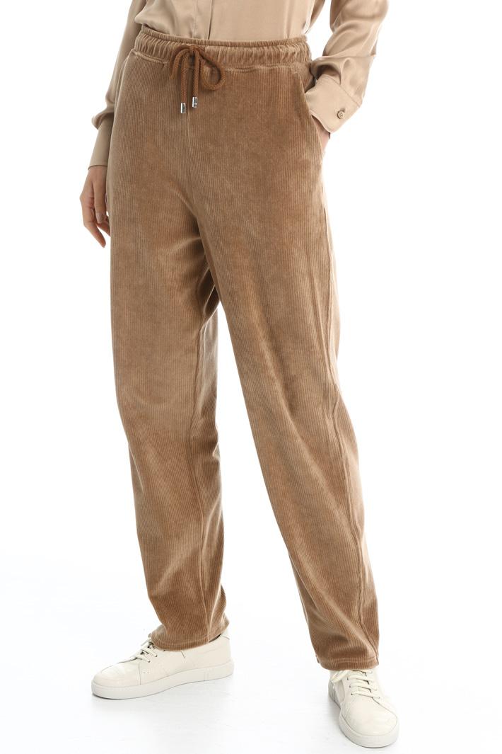 Velvet jogging trousers Intrend