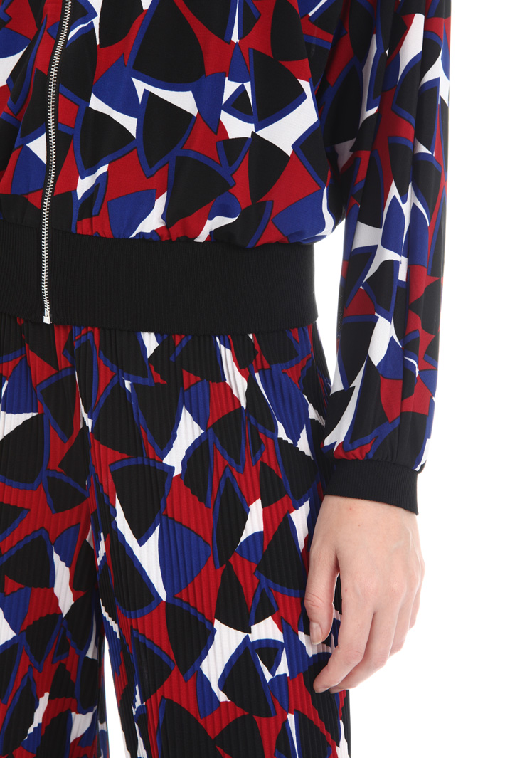 Printed jersey jacket Intrend