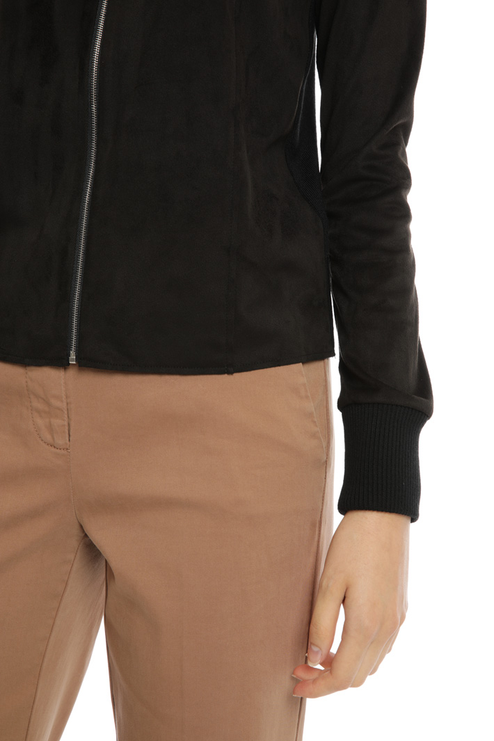 Suede effect cardigan Intrend