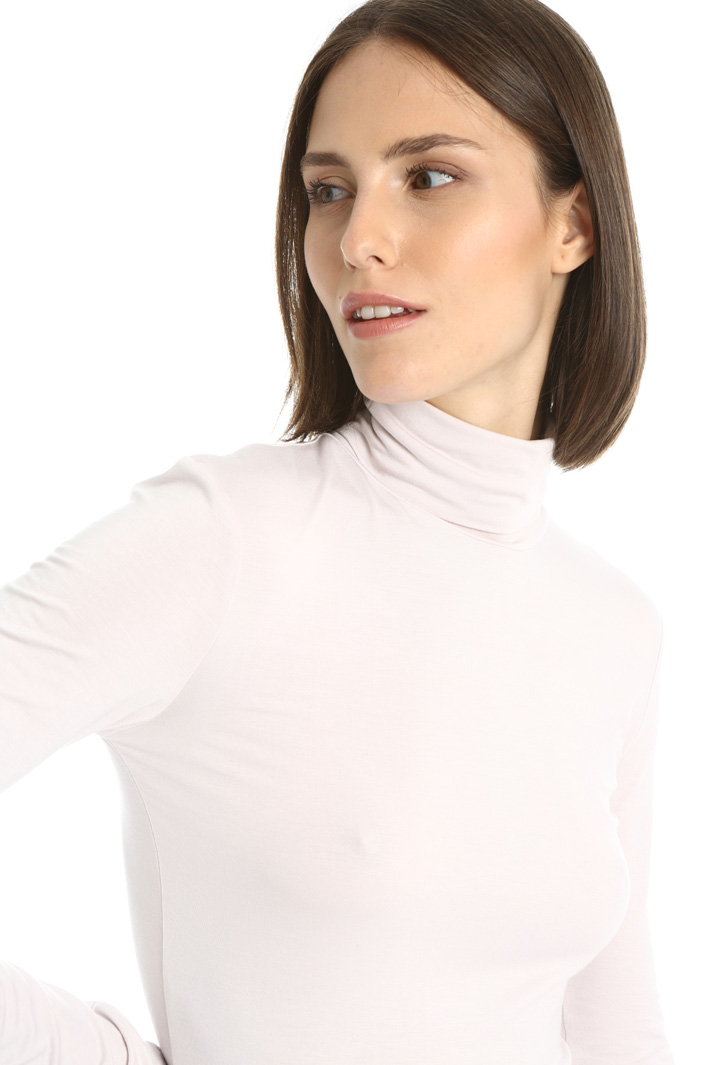 Stretch jersey high neck top Intrend