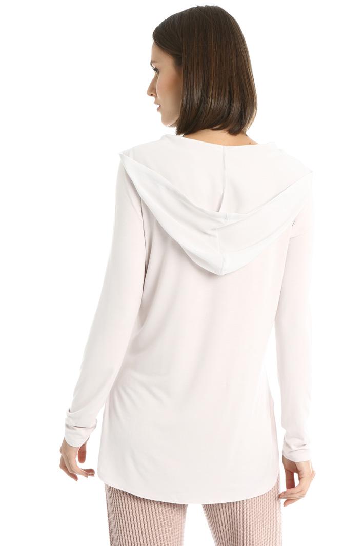 Hooded silk top Intrend