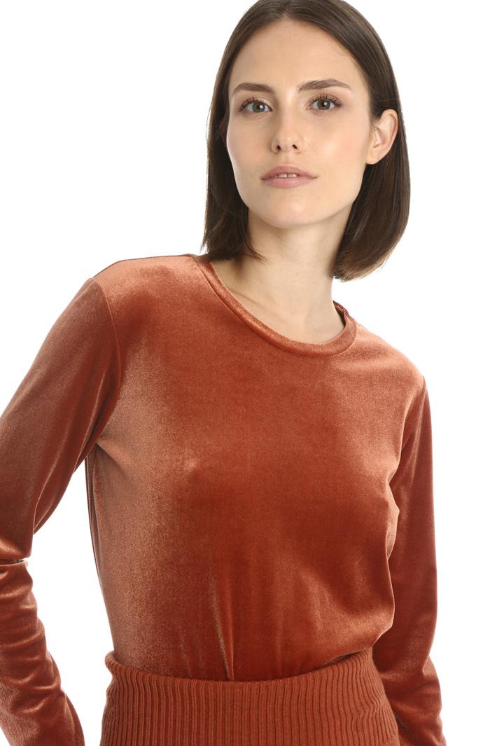 Velvet T-shirt Intrend
