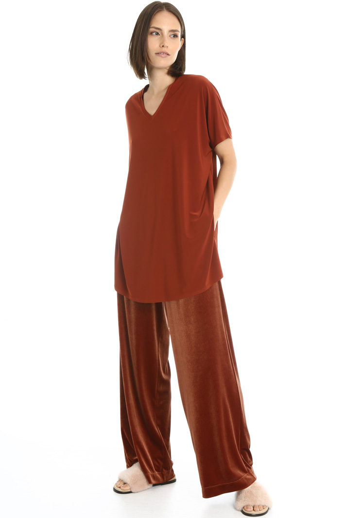 Jersey tunic with slits Intrend