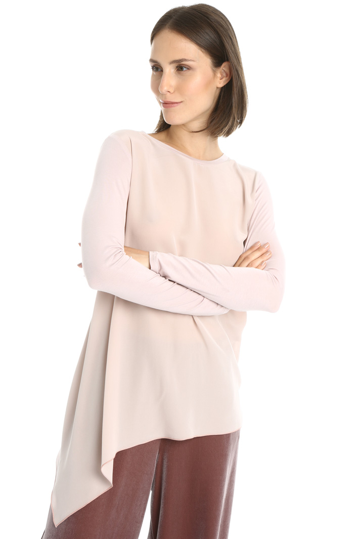 Asymmetrical hem T-shirt Intrend