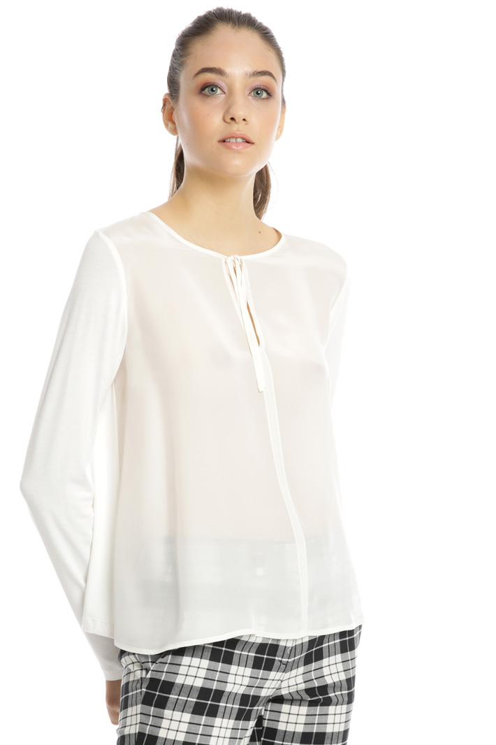 Jersey and silk top Intrend