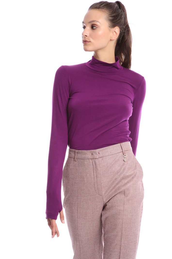 Turtleneck cotton T-shirt Intrend