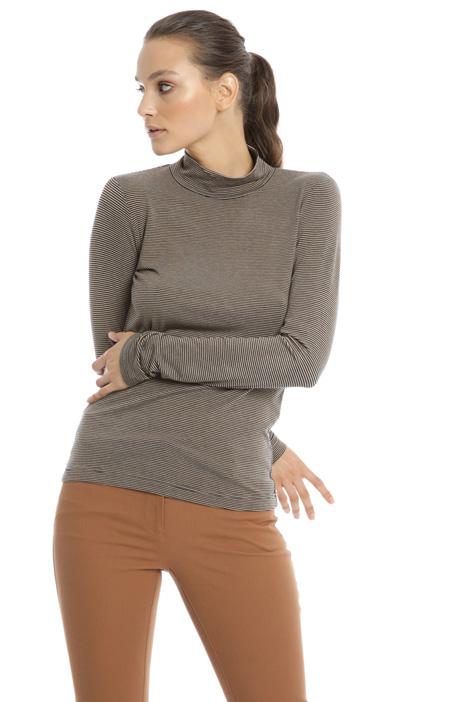 Turtleneck cotton T-shirt Intrend
