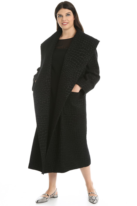 Lurex jacquard coat Intrend