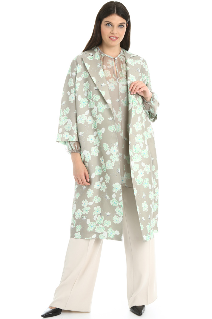Silk blend duster coat Intrend