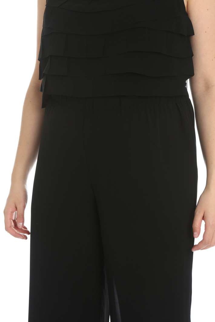 Flared georgette trousers Intrend