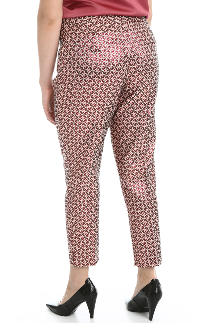 Lurex jacquard trousers Intrend