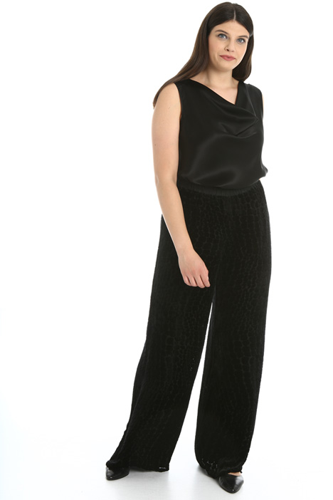Velvet dévoré trousers Intrend