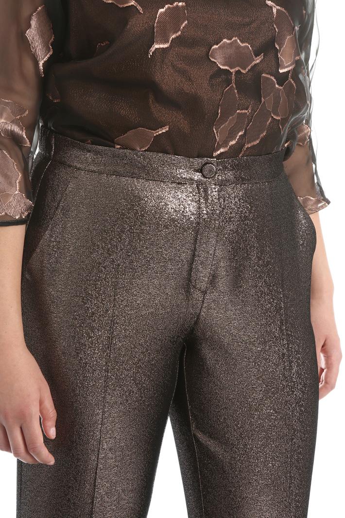 Cotton lamé trousers Intrend