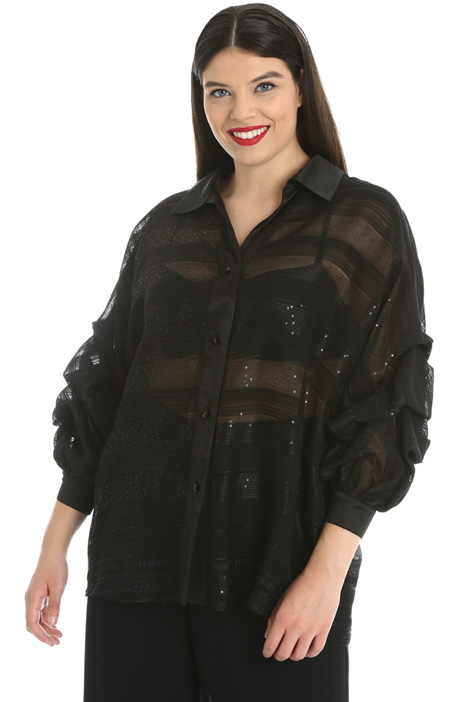 Shirt in organza jacquard Intrend