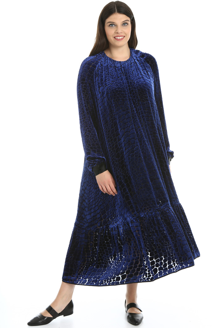 Velvet dévoré dress  Intrend