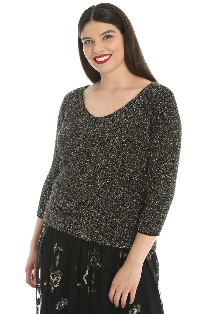 Lamé wool sweater Intrend