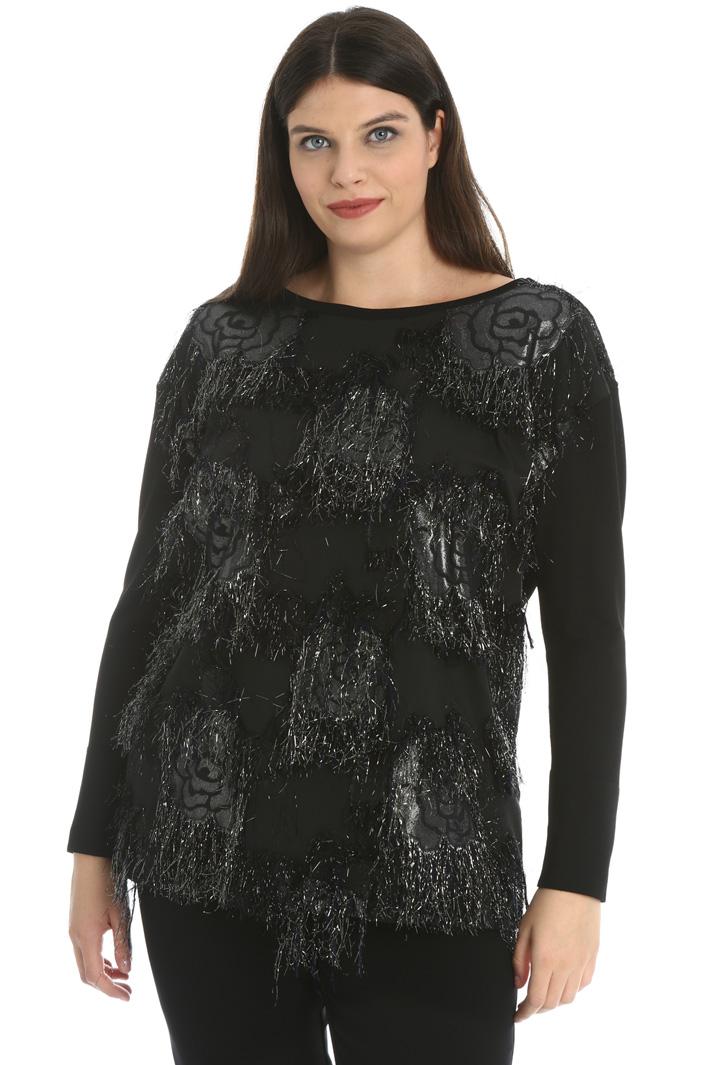 Lamé jacquard sweater Intrend