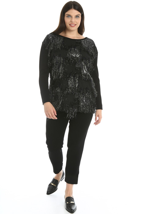 Lamé jacquard sweater Intrend