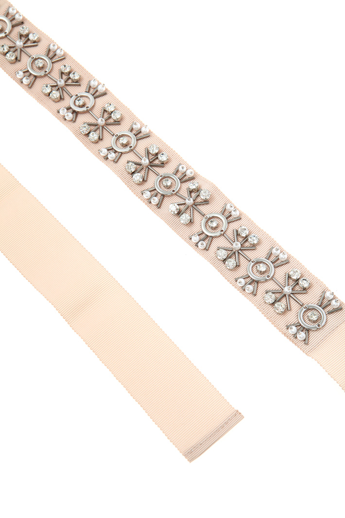 Jewel grosgrain belt  Intrend
