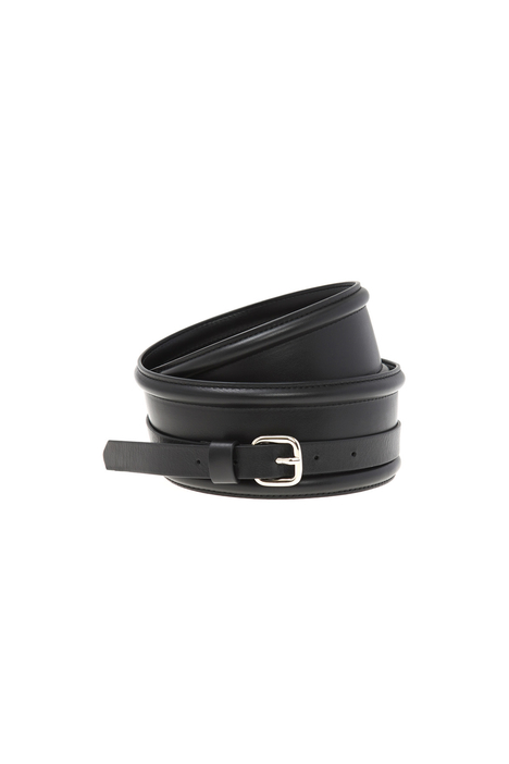 Wide belt in leather Intrend