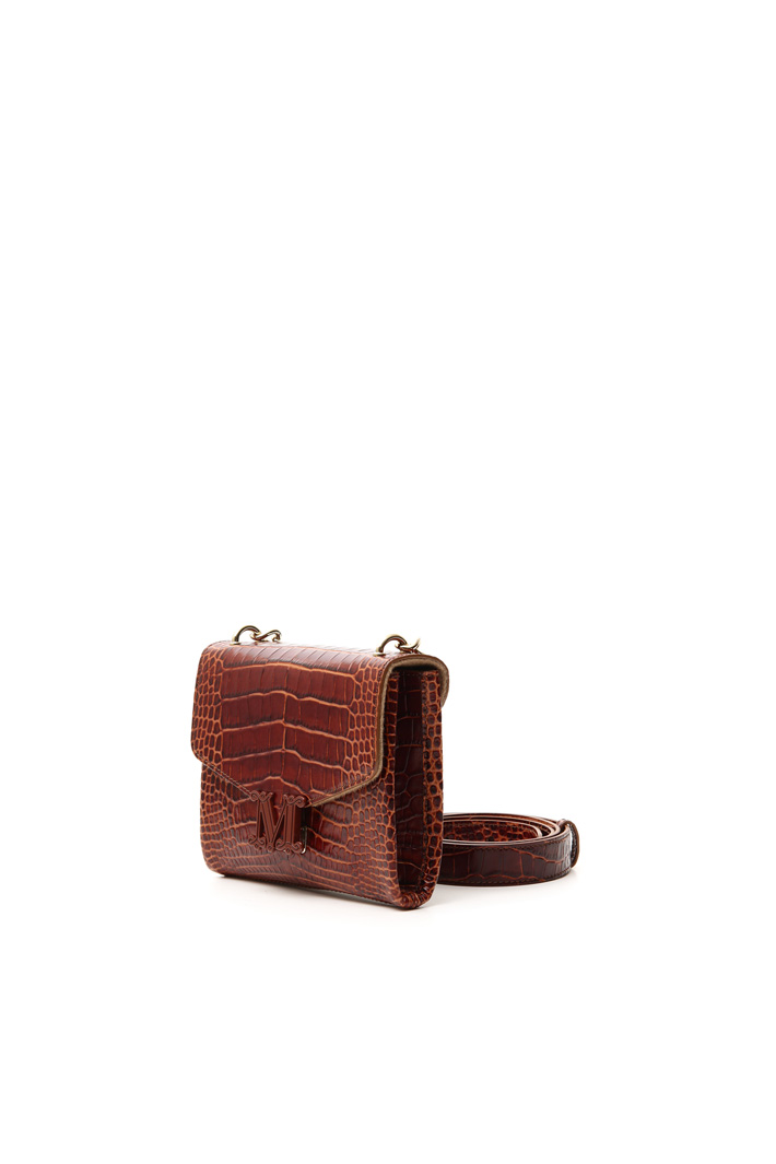 Crocodile-print leather bag Intrend