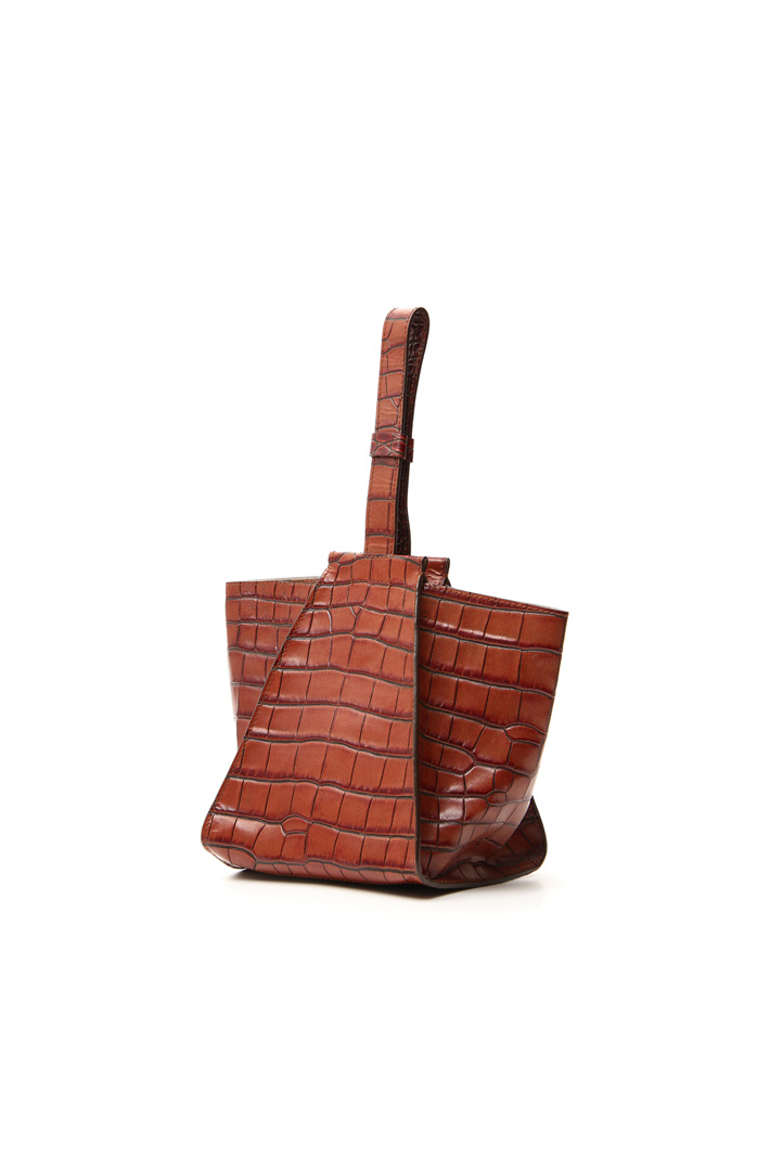 Crocodile print leather bag Intrend
