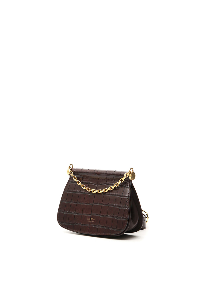 Croc-print leather bag Intrend
