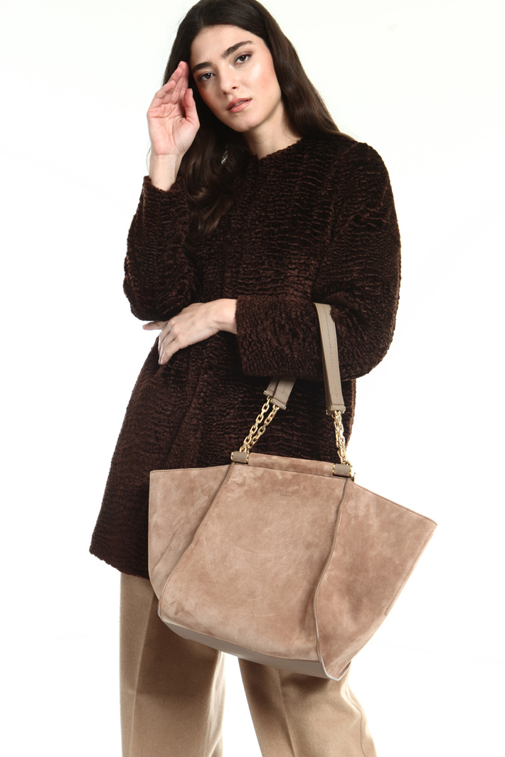 Suede shoulder bag Intrend